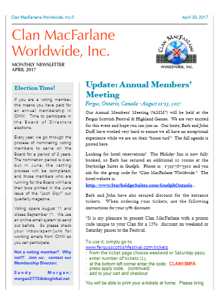 CMW April 2017 Newsletter